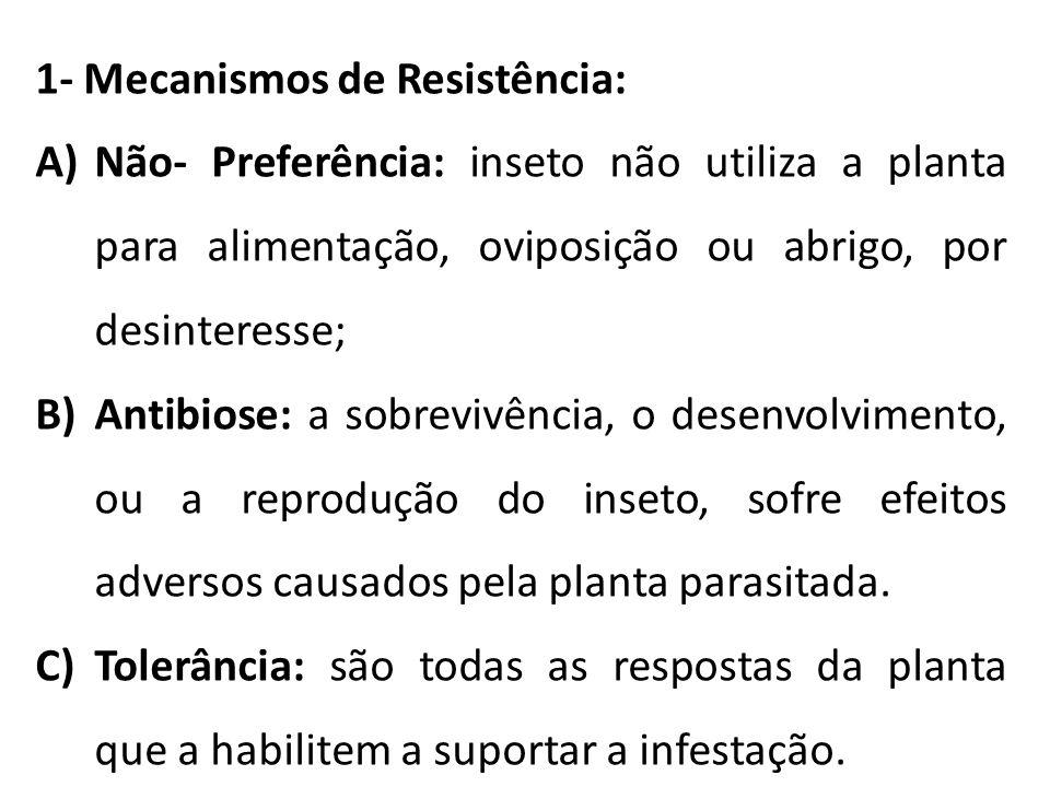 1- Mecanismos de Resistência: