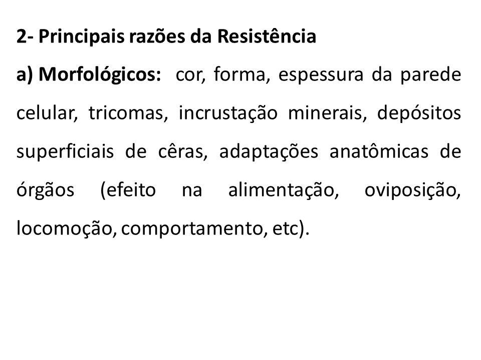 2- Principais razões da Resistência