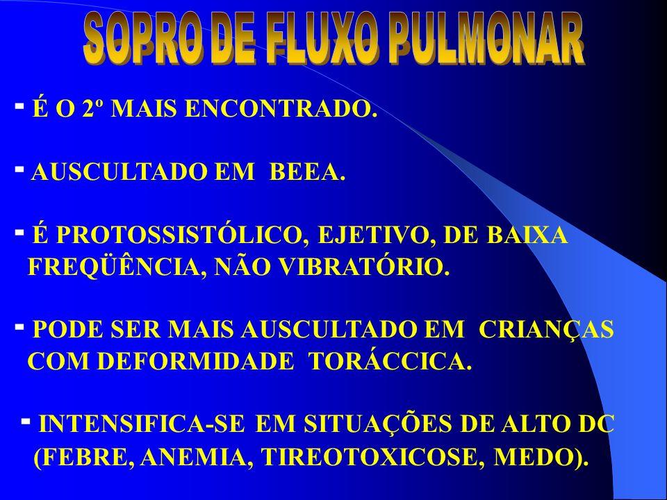SOPRO DE FLUXO PULMONAR