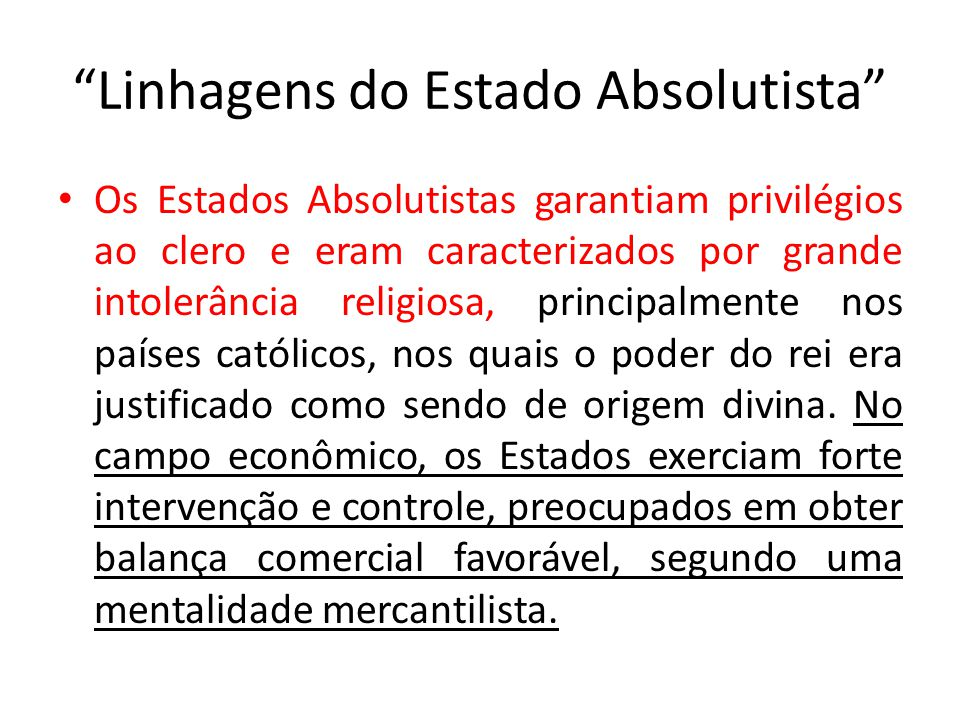 Linhagens do Estado Absolutista