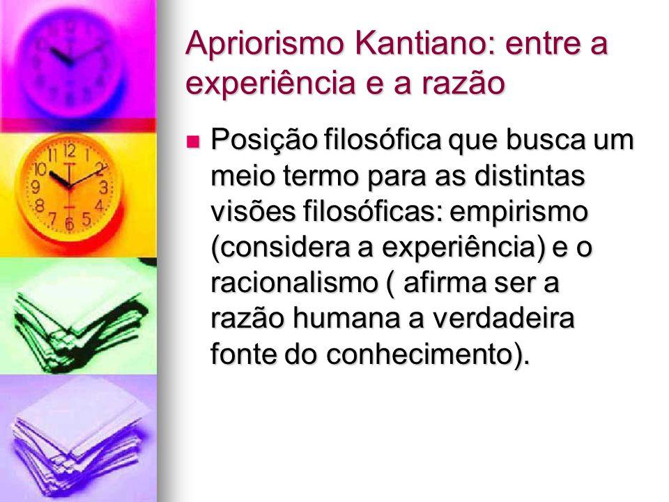 Apriorismo Kantiano: entre a experiência e a razão