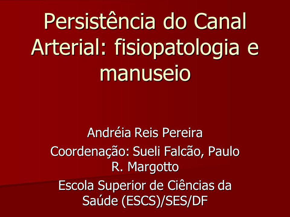 Persistência do Canal Arterial: fisiopatologia e manuseio
