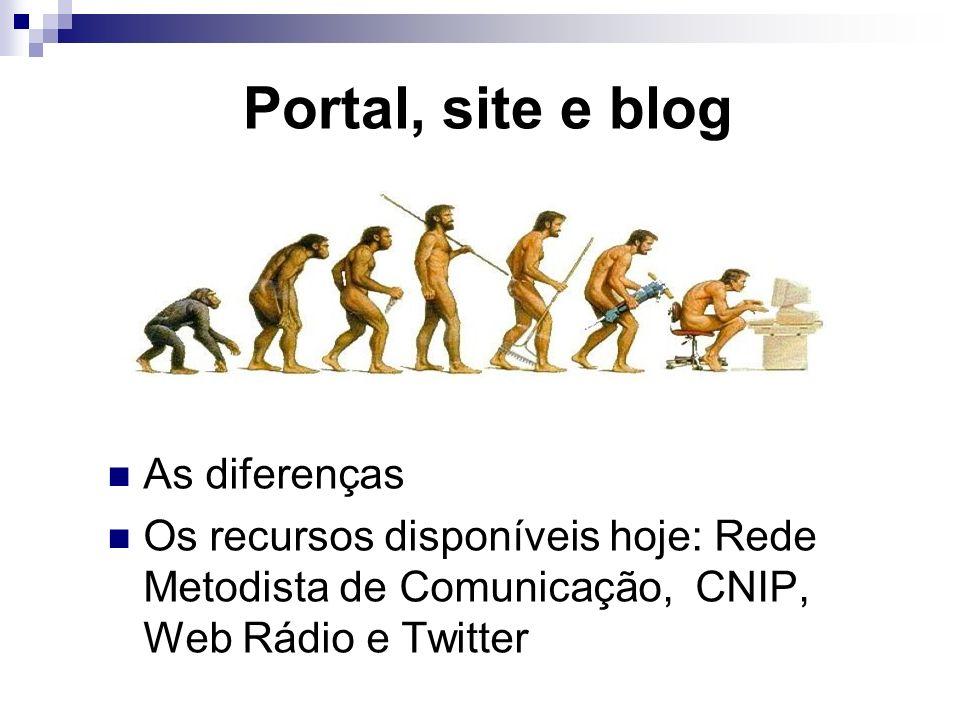Portal, site e blog As diferenças