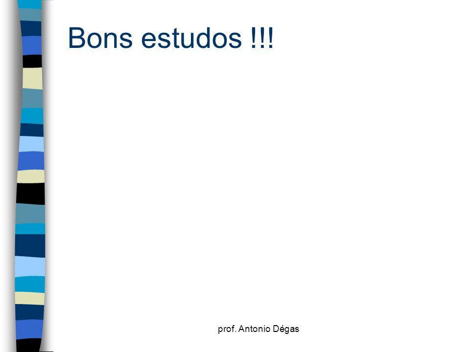 Bons estudos !!! prof. Antonio Dégas
