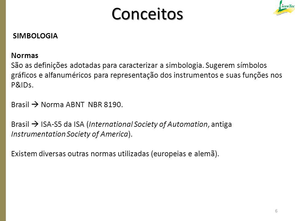 Conceitos SIMBOLOGIA Normas