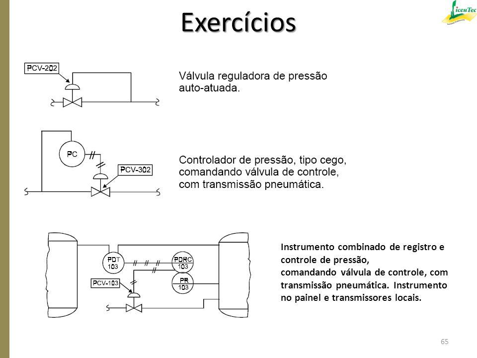 Exercícios Instrumento combinado de registro e controle de pressão,