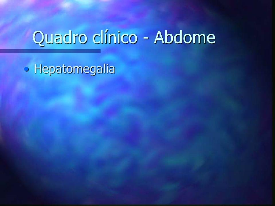 Quadro clínico - Abdome