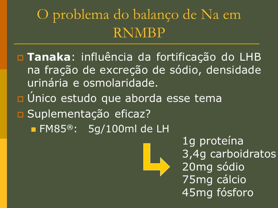 O problema do balanço de Na em RNMBP