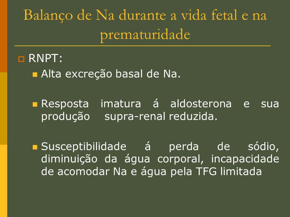 Balanço de Na durante a vida fetal e na prematuridade