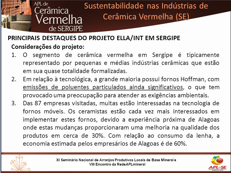 Sustentabilidade nas Indústrias de Cerâmica Vermelha (SE)