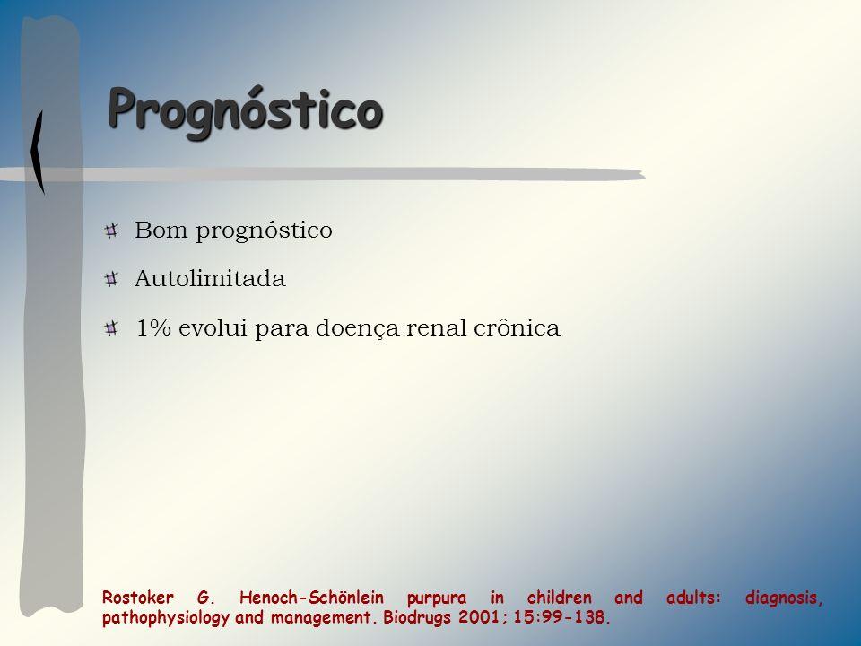 Prognóstico Bom prognóstico Autolimitada