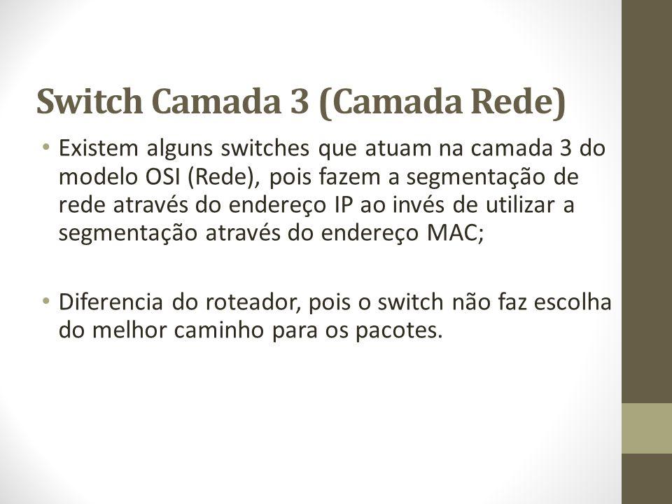 Switch Camada 3 (Camada Rede)