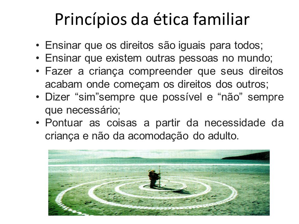 Princípios da ética familiar