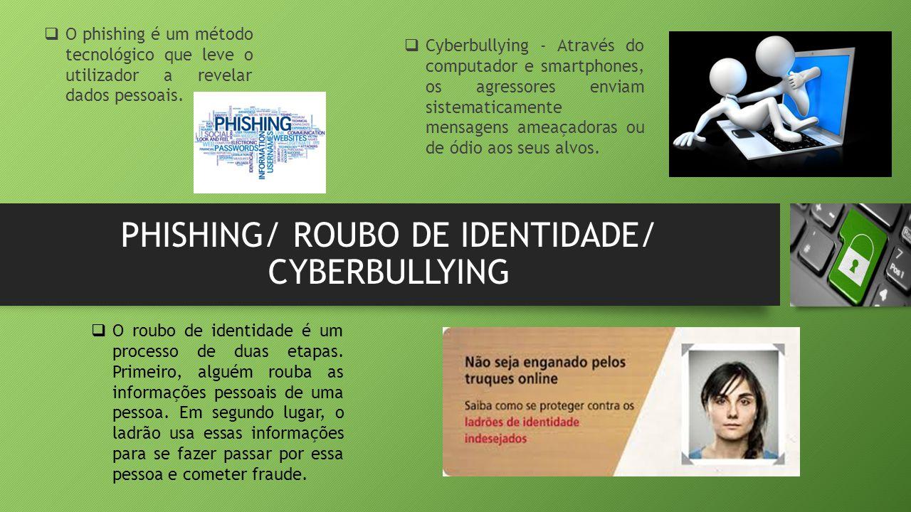 PHISHING/ ROUBO DE IDENTIDADE/ CYBERBULLYING