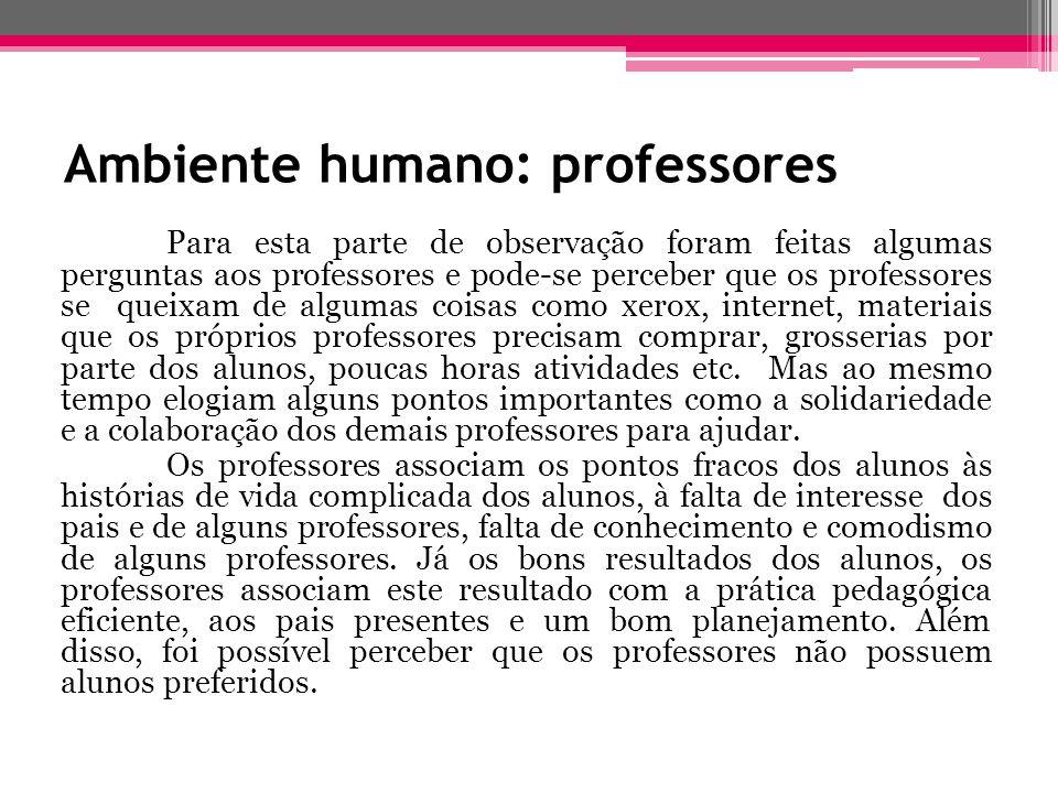 Ambiente humano: professores