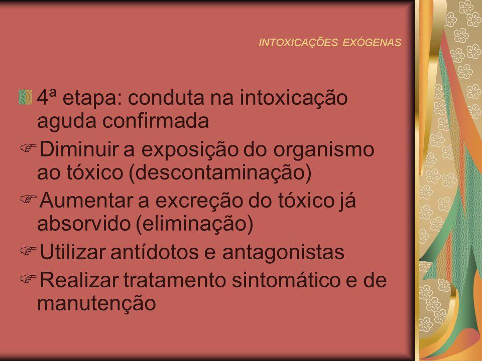 INTOXICAÇÕES EXÓGENAS