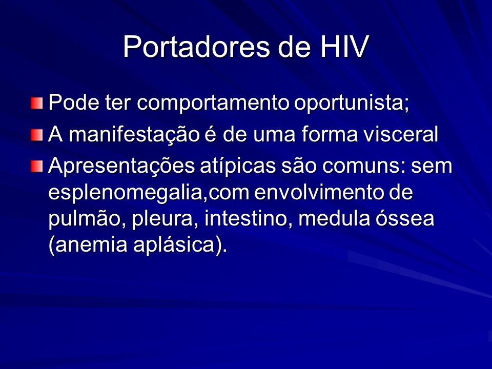 Portadores de HIV Pode ter comportamento oportunista;