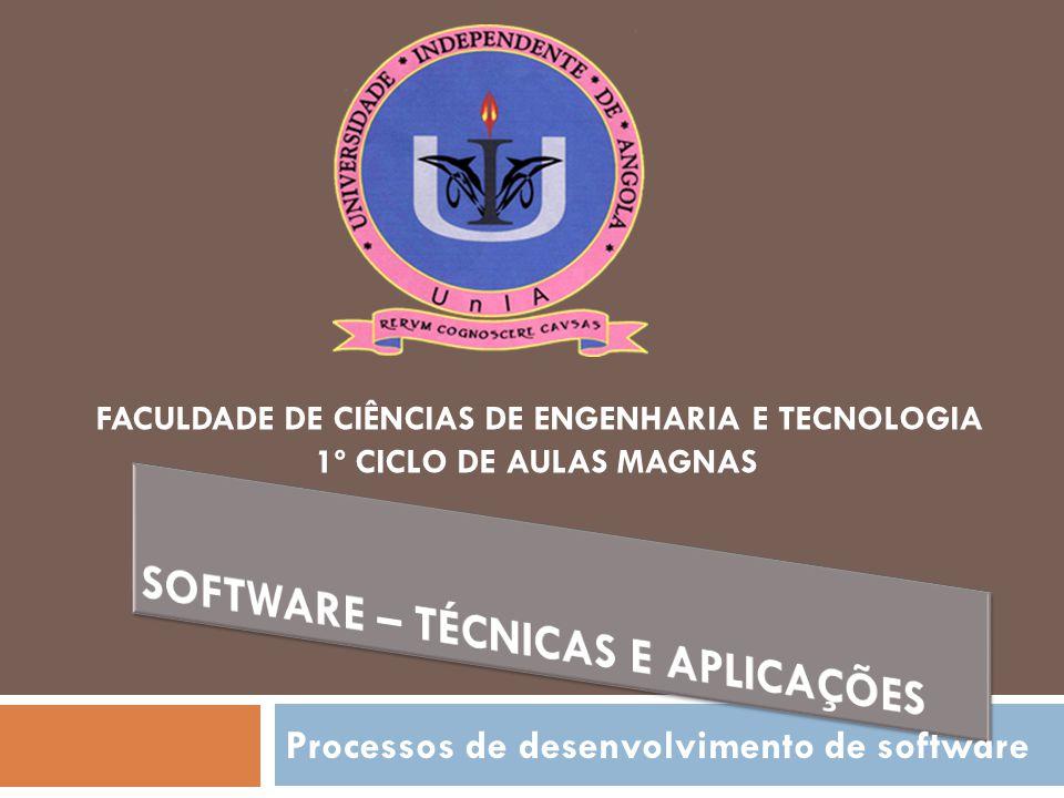 Software – Técnicas e Aplicações