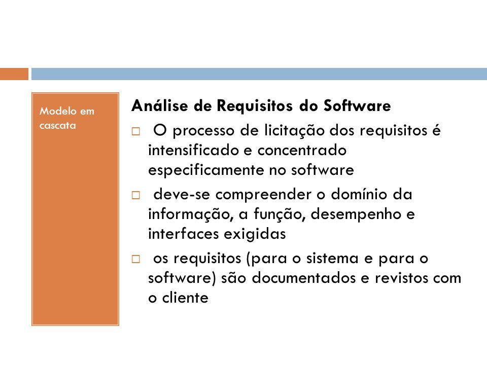 Análise de Requisitos do Software