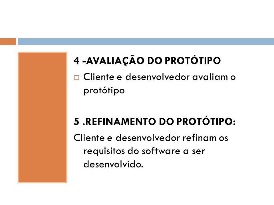 4 -AVALIAÇÃO DO PROTÓTIPO