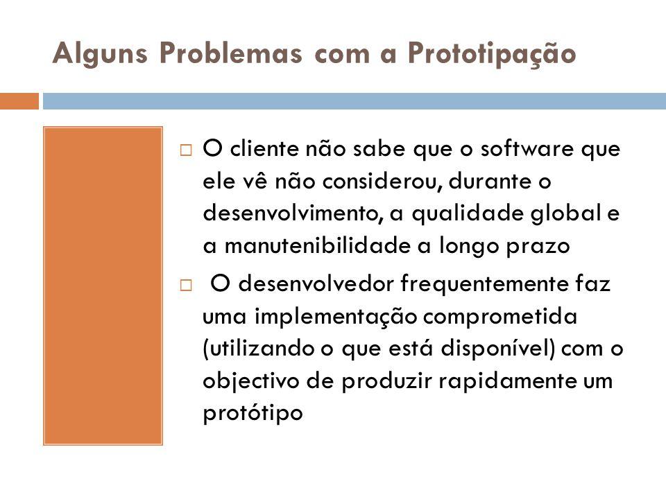 Alguns Problemas com a Prototipação