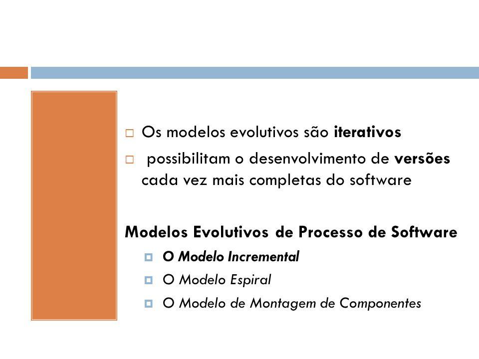 Os modelos evolutivos são iterativos