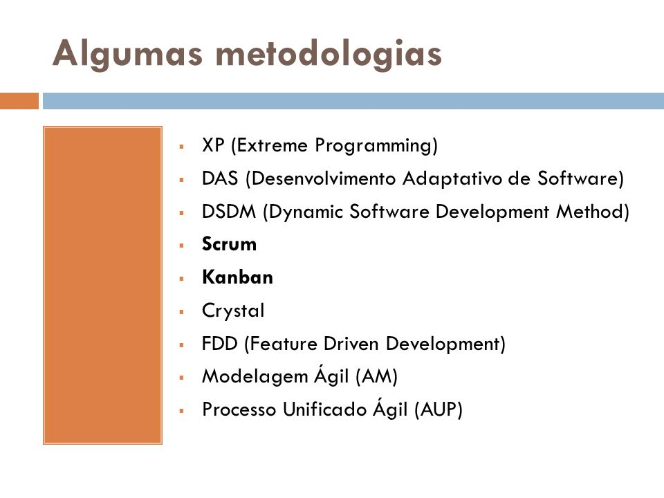 Algumas metodologias XP (Extreme Programming)