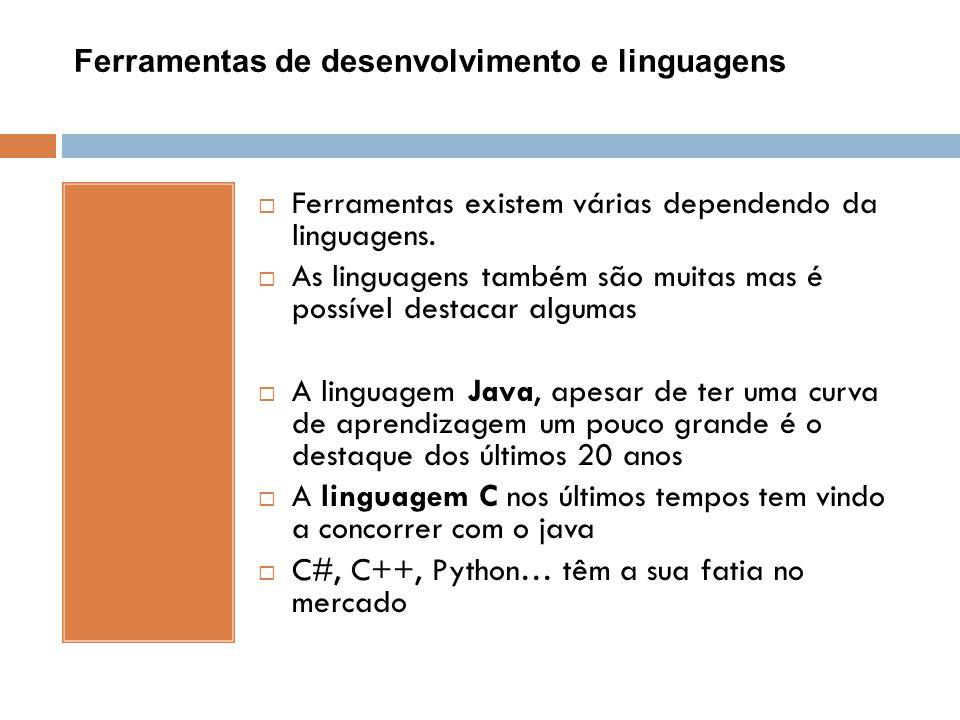 Ferramentas de desenvolvimento e linguagens