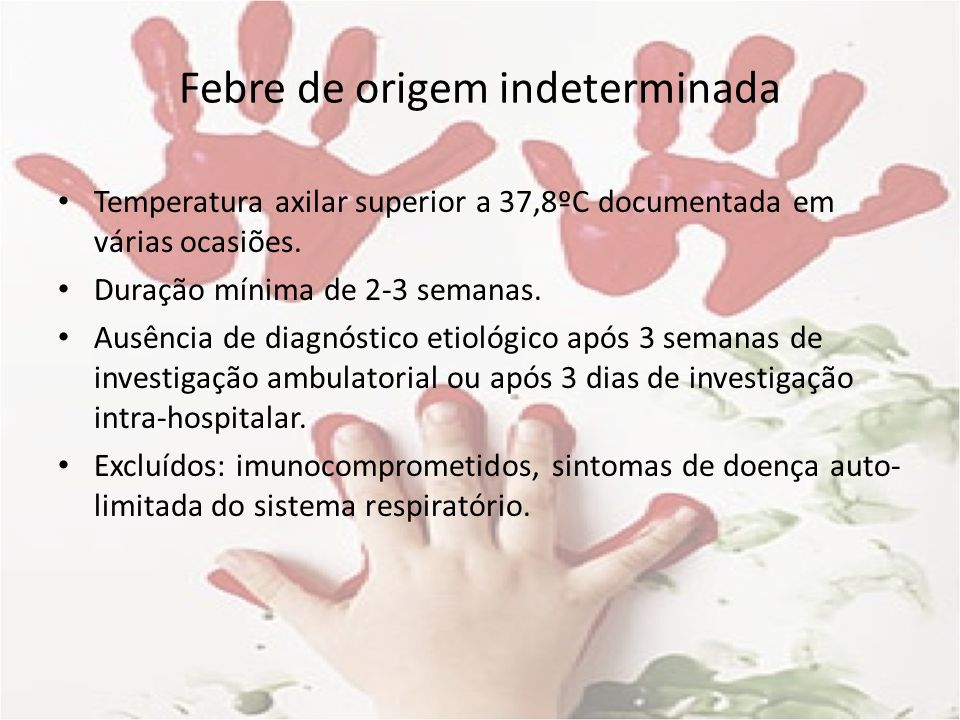 Febre de origem indeterminada