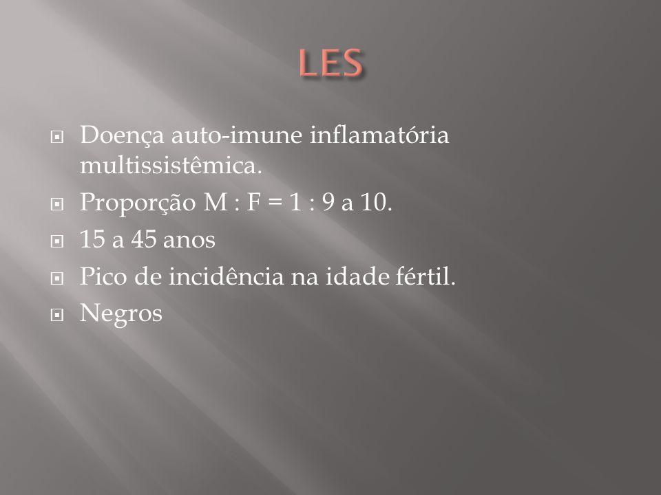 LES Doença auto-imune inflamatória multissistêmica.