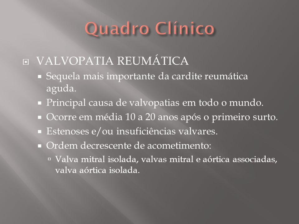 Quadro Clínico VALVOPATIA REUMÁTICA