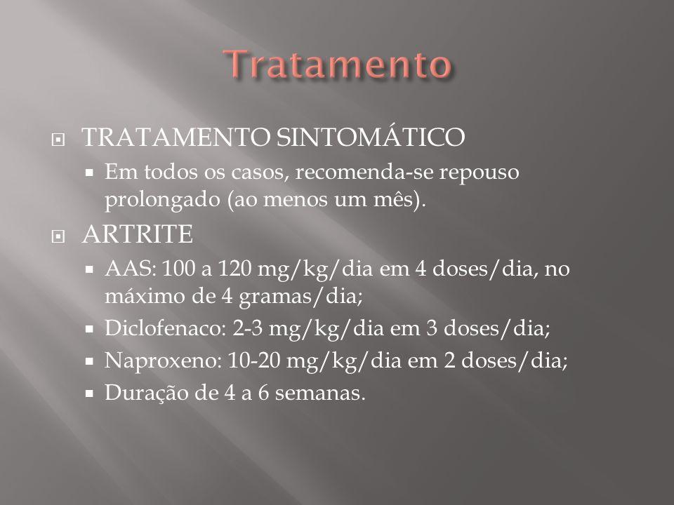 Tratamento TRATAMENTO SINTOMÁTICO ARTRITE