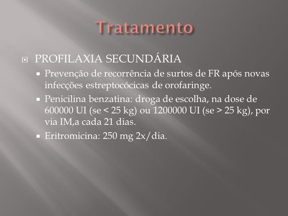 Tratamento PROFILAXIA SECUNDÁRIA