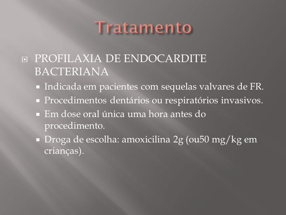 Tratamento PROFILAXIA DE ENDOCARDITE BACTERIANA