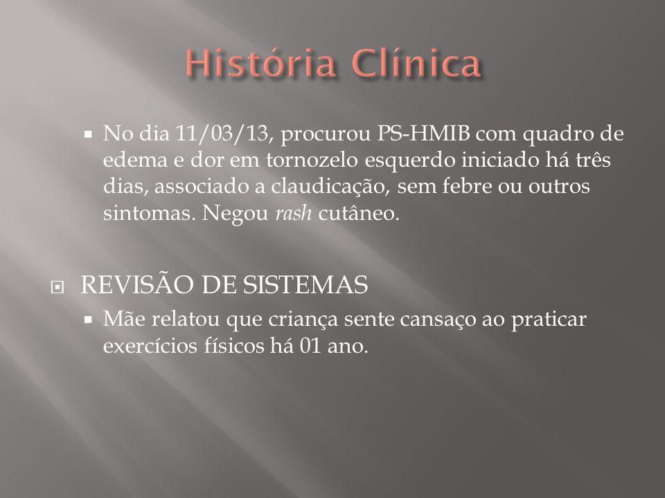 História Clínica REVISÃO DE SISTEMAS