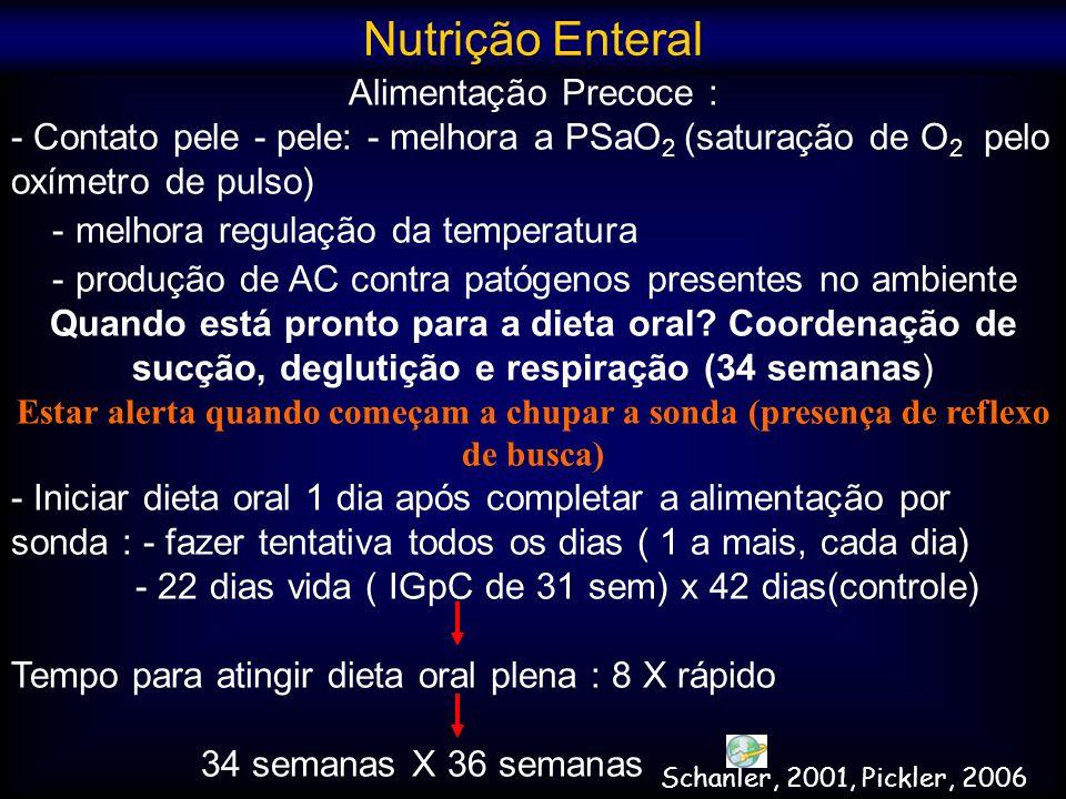 Nutrição Enteral Alimentação Precoce :
