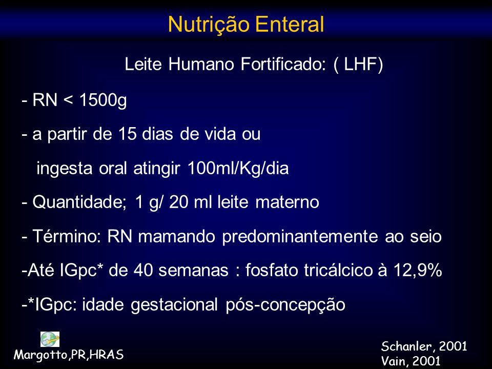 Leite Humano Fortificado: ( LHF)