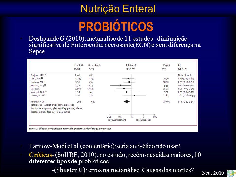 PROBIÓTICOS Nutrição Enteral