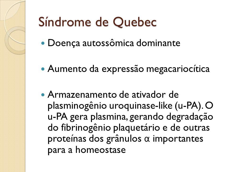Síndrome de Quebec Doença autossômica dominante