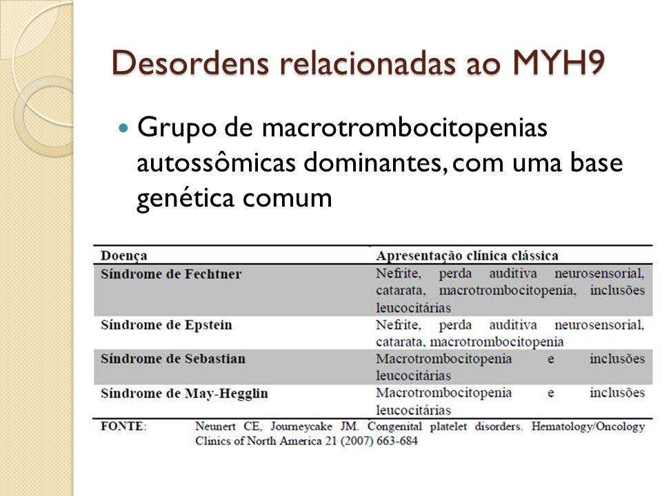 Desordens relacionadas ao MYH9