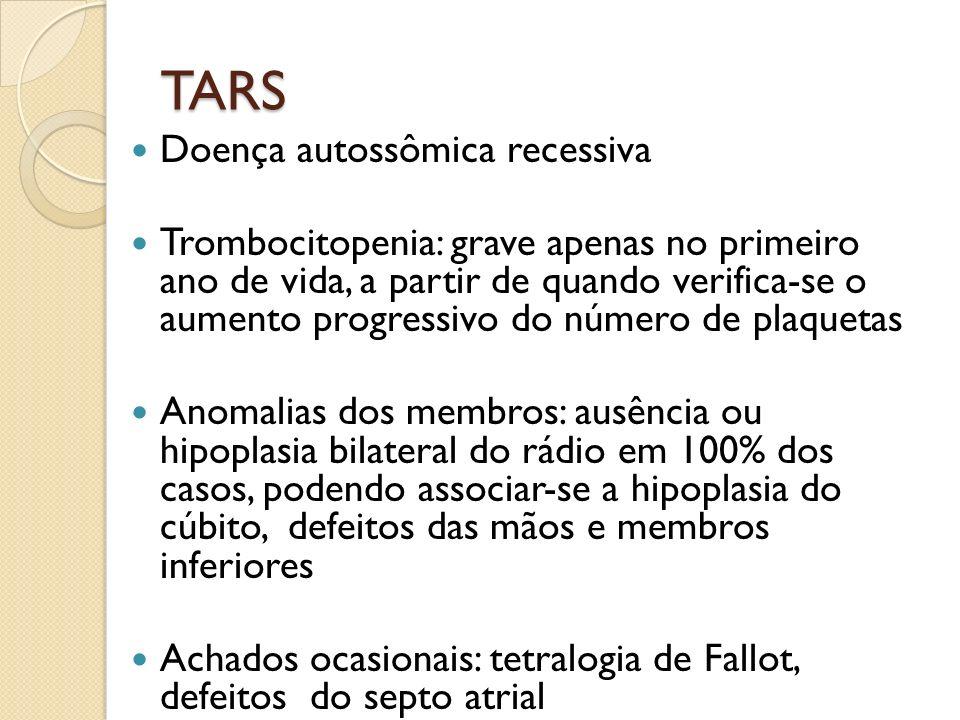 TARS Doença autossômica recessiva