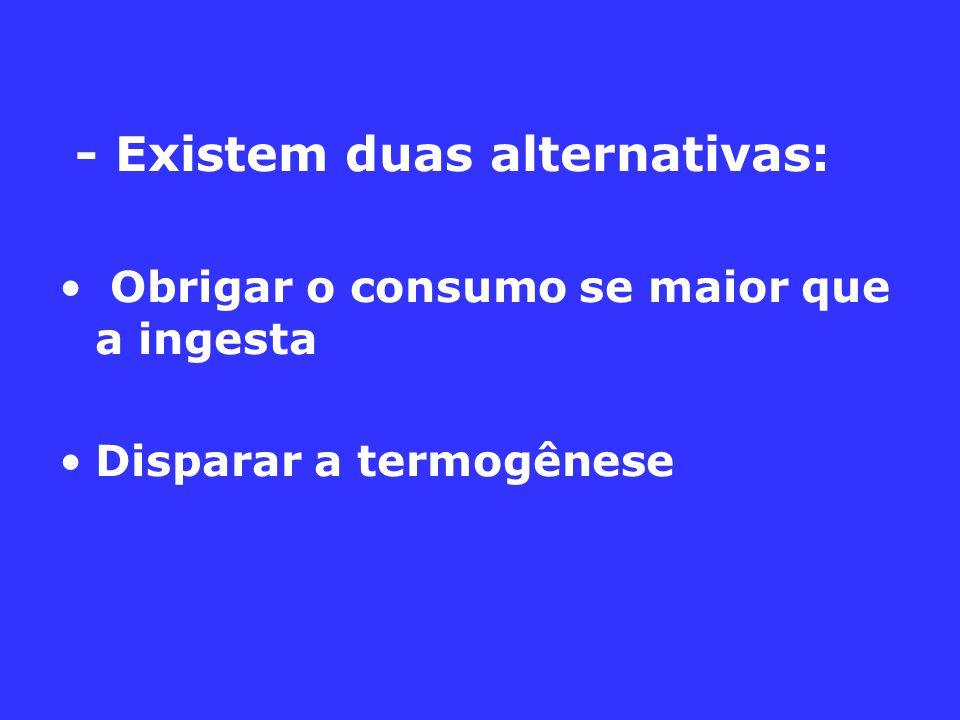 - Existem duas alternativas:
