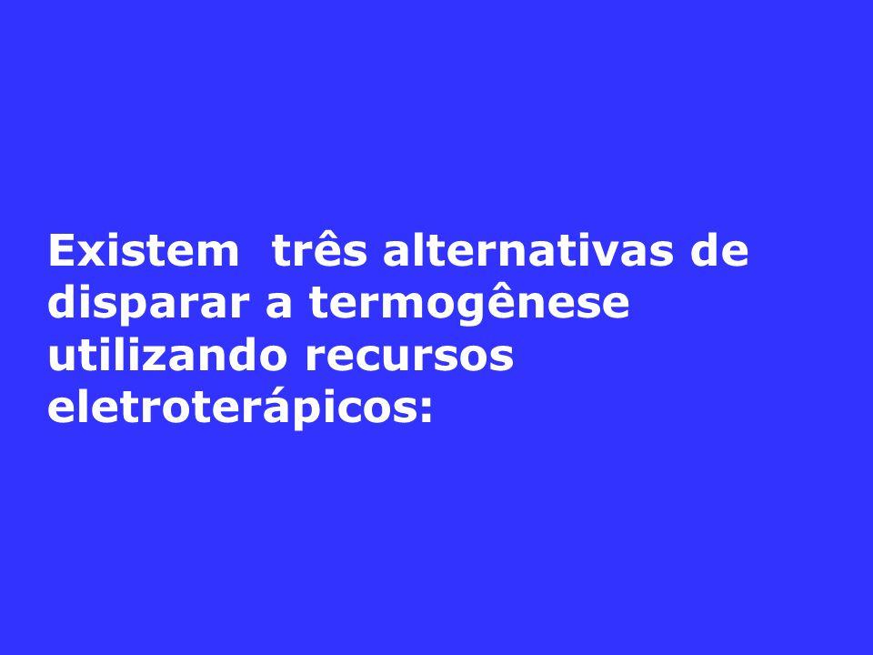 Existem três alternativas de disparar a termogênese utilizando recursos eletroterápicos: