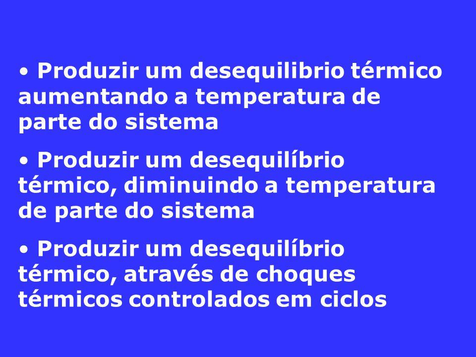 Produzir um desequilibrio térmico aumentando a temperatura de parte do sistema