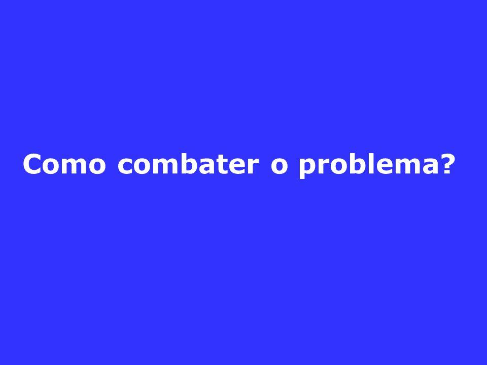 Como combater o problema