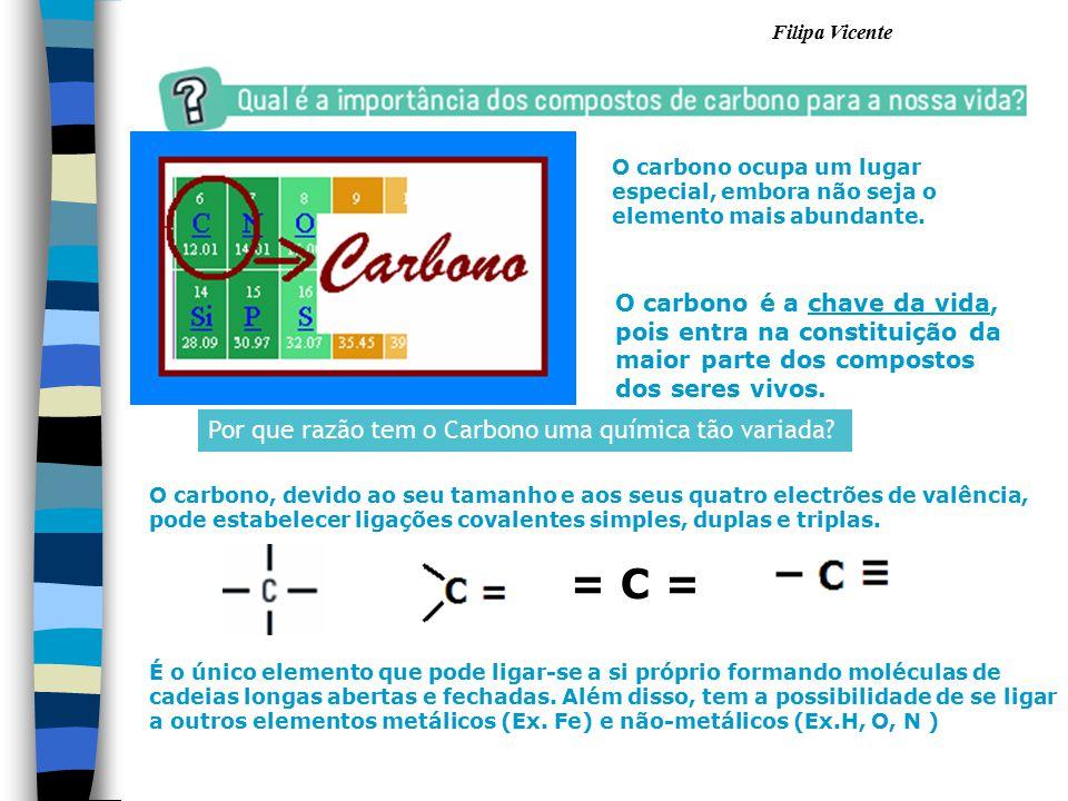 = C = Por que razão tem o Carbono uma química tão variada