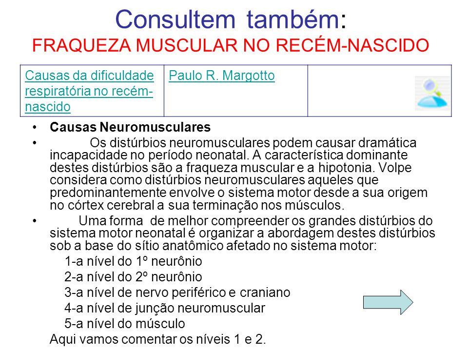 Consultem também: FRAQUEZA MUSCULAR NO RECÉM-NASCIDO