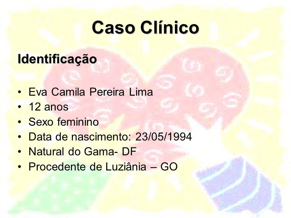 Caso Clínico Identificação Eva Camila Pereira Lima 12 anos