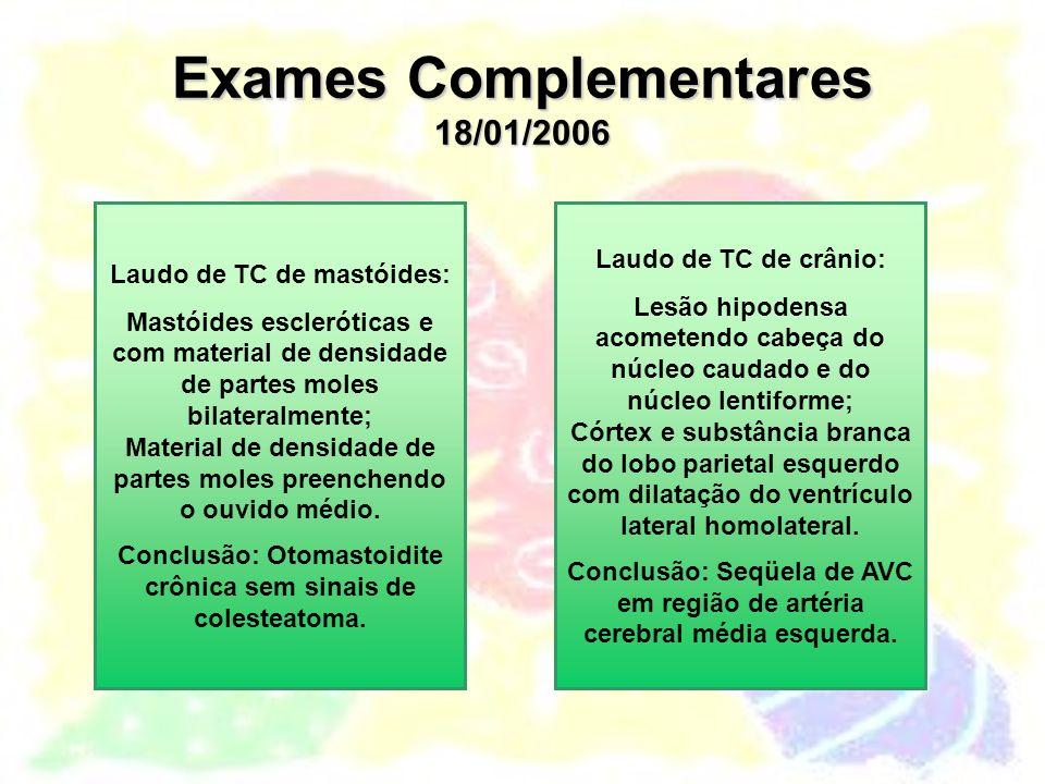 Exames Complementares 18/01/2006