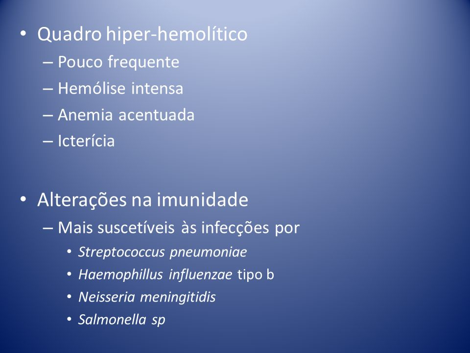 Quadro hiper-hemolítico